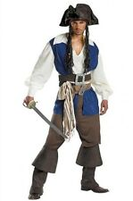 Pirates of the Caribbean - Captain Jack Sparrow - Adult Deluxe Pirate Costume