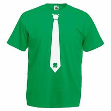 Mens Green 'Irish Clover Tie' T-Shirt Ireland St Patricks Day TShirt