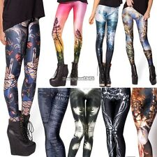 Autumn Winter Women Colorful Print Leggings Skinny Stretch Jeggings Pencil ED