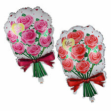 Rose Bouquet Shape Foil Balloon Wedding Anniversary Valentine Party Supply