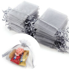 UK Local Organza Gift Pouch Wedding Favour Bag Jewellery Pouch 100pcs