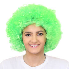 ADULTS GREEN IRISH AFRO WIG PADDY'S DAY FANCY DRESS STAG IRISH ST PATRICK'S LOT