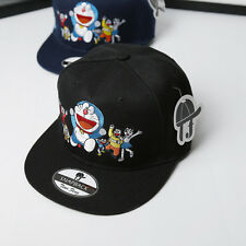 Hot Embroidery Doraemon Print Hip Hop adjustable Snapback Hat Bboy Baseball Cap