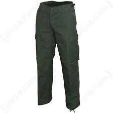 WOMENS US BDU FIELD TROUSERS - OLIVE GREEN - Military Pants Rip Stop Cotton New
