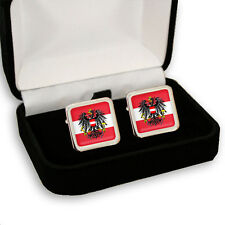 AUSTRIA FLAG EAGLE COAT OF ARMS MEN'S CUFFLINKS GIFT ENGRAVING