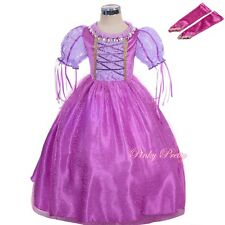 Tangled Princess Rapunzel Costumes Fancy Party Dress Halloween Outfit 3-9y FC058