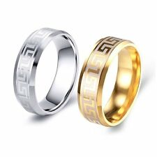 Fashion Vintage Mens Stainless Steel Wedding Band Rings Size 7 8 9 10 11