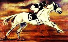 HORSE PRINT Giclee RACE Art RACEHORSE #5 artist BETS 6 COLOR print size 14 X 20