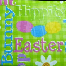 EASTER TABLECLOTH~Floral/eggs/Daisies~Vinyl~Flannel Back~ALL SIZES~New