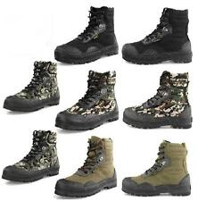 Men Boys  Military Camo Outdoor Hiking Camping  Lace Up Ankle Boot Trainer Shoe