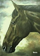 HORSE PRINT Giclee BAY Horse PRINCETON artist BETS 5 COLORS print size 14 X 18