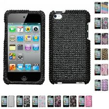For Apple iPod Touch 4th Gen Diamond Diamante Bling Rhinestone Case Cover