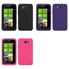 For HTC Titan X310a Silicone Skin Rubber Soft Case Phone Cover