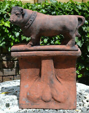 Bull decorative roof finial angled ridge tile frost proof stone copy of original