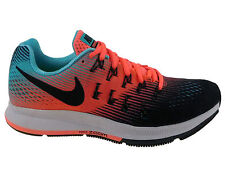 NEW WOMENS NIKE AIR ZOOM PEGASUS 33 RUNNING SHOES TRAINERS BLACK / WHITE / LAVA