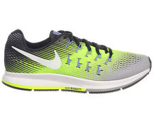 NEW MENS NIKE AIR ZOOM PEGASUS 33 RUNNING SHOES TRAINERS MATTE SILVER / VOLT