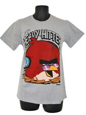 Mens/Teenagers Grey ANGRY BIRDS HEAVY HITTER T-Shirt / Top   S. M. L. XL.