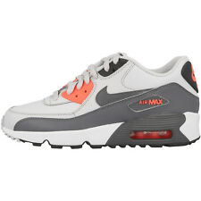 Nike Air Max 90 Leather GS shoes platinum grey lava Trainers 833376-006 Command