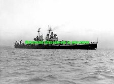 USS Canberra CA-70 Black n White Photo Navy USN Military CRUISER  CA 70 WW2