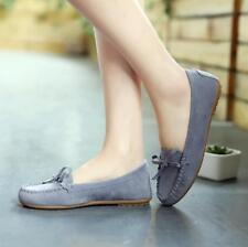 Women Moccasins Bow Softsole Round Toe Slip On Flats Shoes Casual Loafers Pump