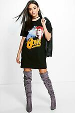 Boohoo Womens Katie Bowie License T-Shirt Dress