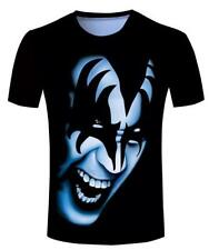 New Fashion Womens/Mens Men Kiss Gene Simmons Funny 3D Print T-shirt BF40