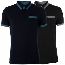 Gabicci Vintage Mens Polo Shirt Button up Collared Short Sleeved Top Sizes S-L