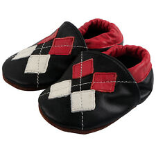 Soft Sole Leather Baby Boy Infant Kids Indoor Anti-Slip Toddler Crib Shoes 0-24M