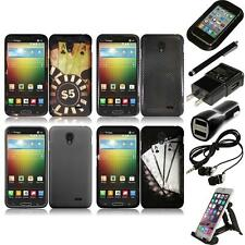 For LG Lucid 3 Snap-On Design Rubberized Hard Phone Case Cover Accessories