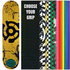 STEREO Skateboard Deck EARTH YELLOW LOGO 7.5 with GRIPTAPE