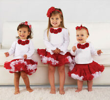 Mud Pie Baby CHRISTMAS PETTISKIRT 130277 Christmas Eve Collection Holiday New