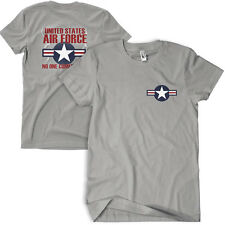 usaf us air force wing star t-shirt no one comes close grey fox 64-437