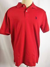 U.S. Polo Assn Mens Luxury Feel Polo Golf Shirt Red or Navy Blue NWT Cotton