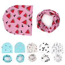 1 Set New Fashion Soft Hat Cap+Bib Towel Head Scarf Infant Kid's Baby Boys Girls