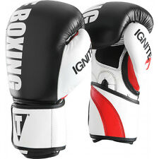 Title Boxing Infused Foam Ignite Power Hook and Loop Bag Gloves - Black/White