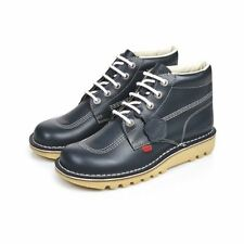 KICKERS KICK HI CLASSIC BOOTS SHOES LEATHER NAVY SS17 RUBBER LACES MEN'S NEW