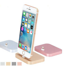 Aluminum Metal Charger Data Sync Cradle USB Charging Dock Station Pad for iPhone