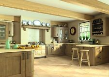 ** NEW ** High Quality OAK EFFECT Shaker wood-grain Replacement kitchen doors