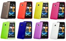 JUPPA HTC ONE M7 TPU GEL RUBBER CASE COVER WITH SCREEN PROTECTOR & CLOTH
