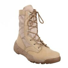 """DESERT TAN 8.5"""" Lightweight V-MAX Tactical BOOTS Athletic Shoes Army Navy USMC"""