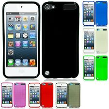 For Apple iPod Touch 5th Gen Case TPU Rubber Crystal Skin Phone Slim-Grip Cover