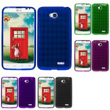 For LG Optimus L70 Case TPU Rubber Crystal Skin Phone Slim-Grip Cover