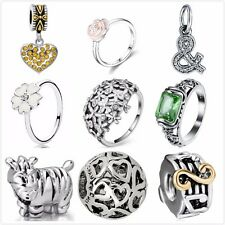 New Fashion 925 Silver Charms Beads Rings Fit European Snake Chain Bracelet CA