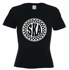 SKA WOMENS T-SHIRT - 2 Tone Mod Specials Madness Skinhead Rude Boy - Sizes S-XL
