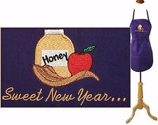 Sweet New Year Apron Rosh Hashanah Child Youth or Adult  SizeCustom Embroidered