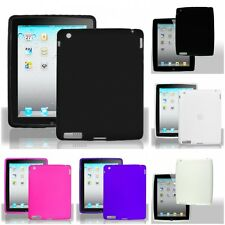 For Apple iPad 2/3/4 Silicone Case Gel Rubber Slim Grippy Skin Cover