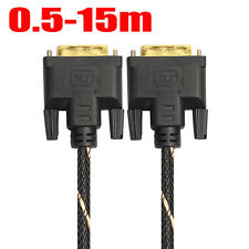 TFT LCD Digital Monitor DVI D To DVI-D Gold Male 24+1 Pin Dual Link TV Cable LOT