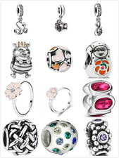 New Fashion Silver European Charms Beads Rings Fit Bracelet Snake Chain US