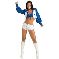 Dallas Cowboys Cheerleader Costume Adult Womens Sexy Halloween Fancy Dress