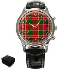 MACALISTER SCOTTISH CLAN TARTAN  MENS WRIST WATCH  GIFT ENGRAVING